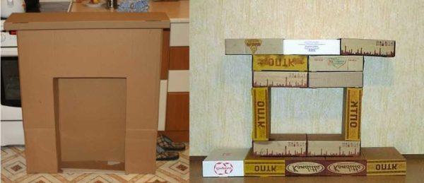 Можно сделать из большой картонной коробки или некоторого количества небольших