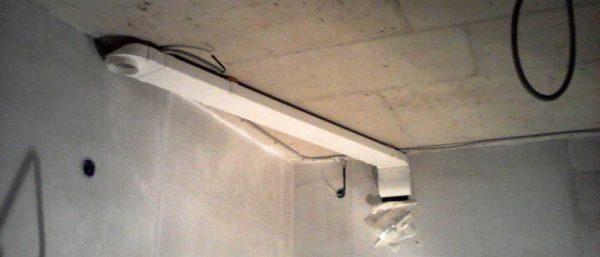 Пример использования переходника - круглый потолочный диффузор подключается к прямоугольному вентиляционному каналу