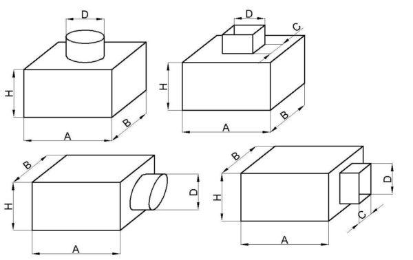 Виды адаптеров для вентиляционных потолочных диффузоров