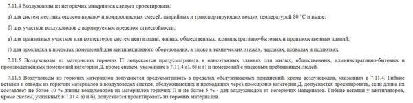 Выдержка из СНиП 41-01-2003