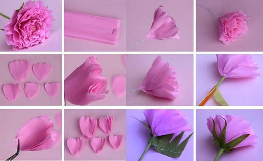 Как сделать бумажные цветы своими руками из гофрированной бумаги 18