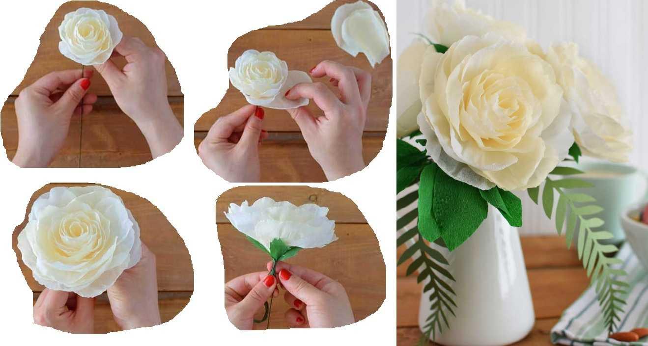 Как сделать цветок из гофрированной бумаги поэтапно  184