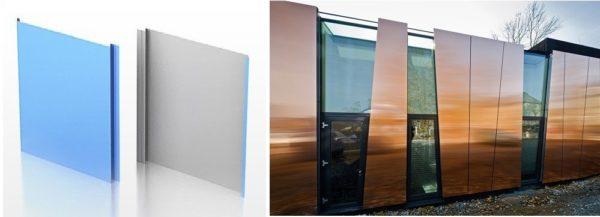 Металлические фасадные панели - для домов нестандартной архитектуры