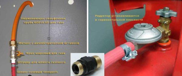 Газовая плита для дачи под баллон: подключение