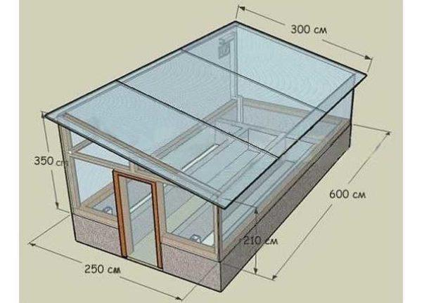 Проект односкатной теплицы из поликарбоната своими руками 6