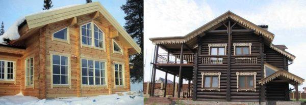 Деревянные наличники хороши на домах любого стиля
