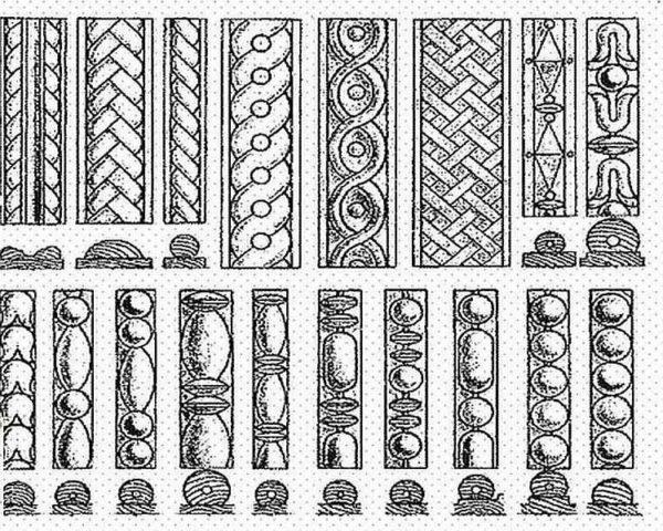 Несколько традиционных узоров для украшения наличников