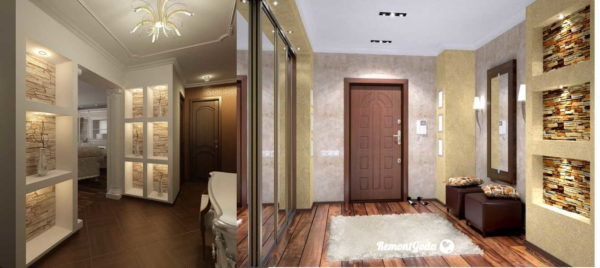 Светодиодная подсветка актуальна не только для потолка, но и для ниш и других деталей интерьера