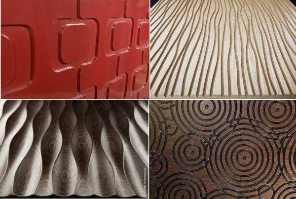 Это еще несколько видов стеновых МДФ панелей 3Д