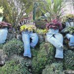 Не знаете куда девать старые брюки? В сад их!