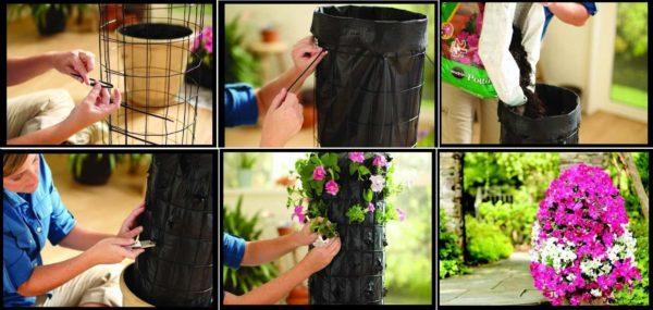 Как сделать цветущую колонну своими руками