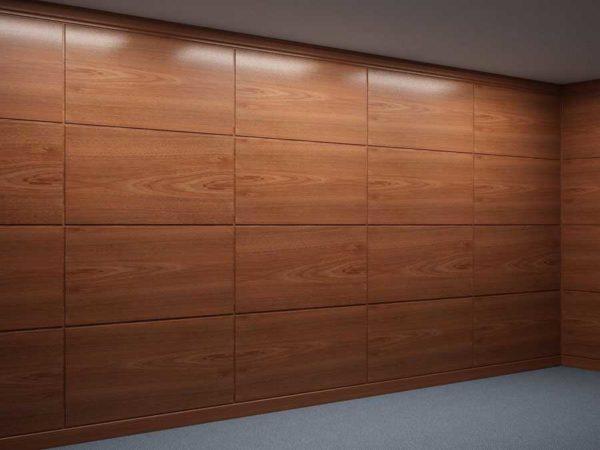 Ламинированные или шпонированные стеновые панели для внутренней отделки из ДСП неплохо смотрятся в современных интерьерах