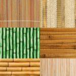 Несколько видов плетеных стеновых панелей из бамбука