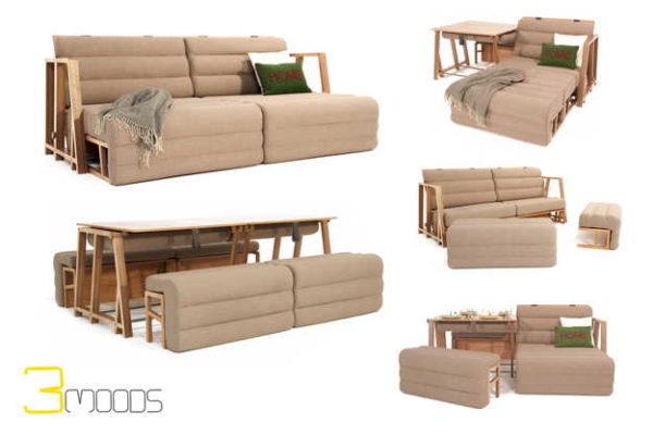 Диван-стол-кресло...5 вариантов использования