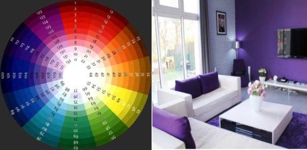 В рамках одного цвета можно взять несколько оттенков, добавить штрихи нейтральных цветов - вот и готов монохромный интерьер