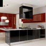 В современных кухонных гарнитурах фасады могут быть разных цветов