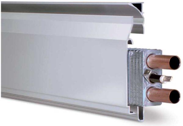 Есть еще комбинированный теплый плинтус - с электрическим ТЭНом и трубами для теплоносителя