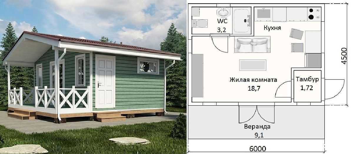 Проект одноэтажного дома с мансардой и подвалом R3738