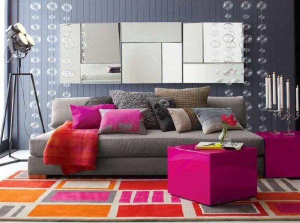 Современный стиль - сочетание нейтральных и ярких цветов