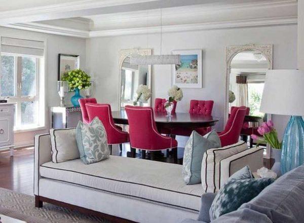 Объединенная соловая и гостиная - учитываются все цвета