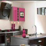 На кухне подобное сочетание подчеркивает стильность мебели