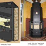 Угловые модели 3 сторонних каминов:Амир и Лувр