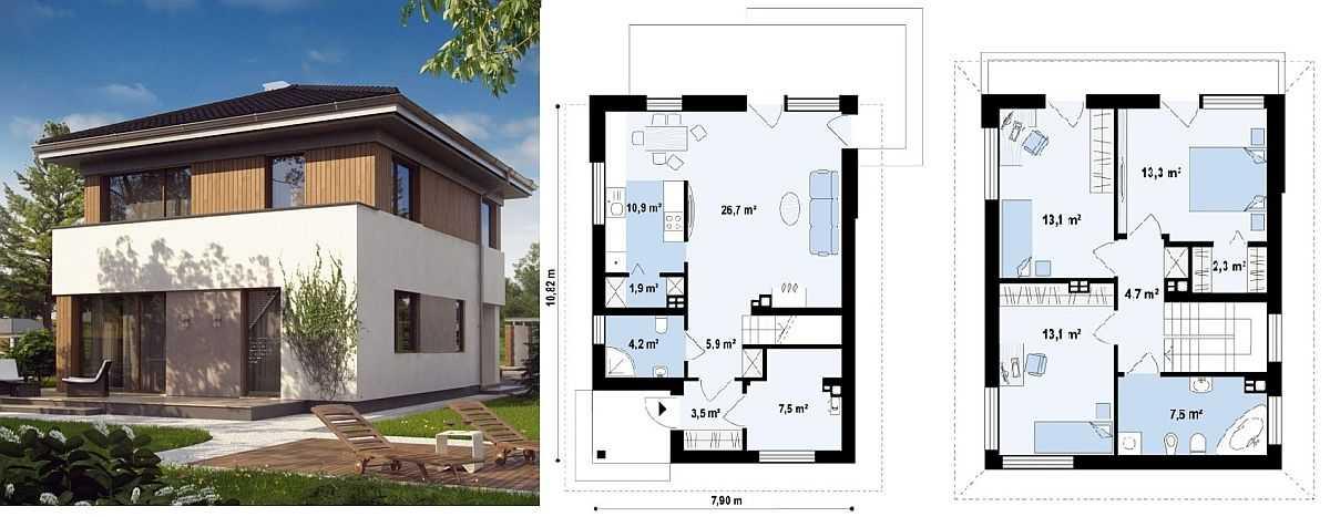 Планировка небольших домов для дачи.