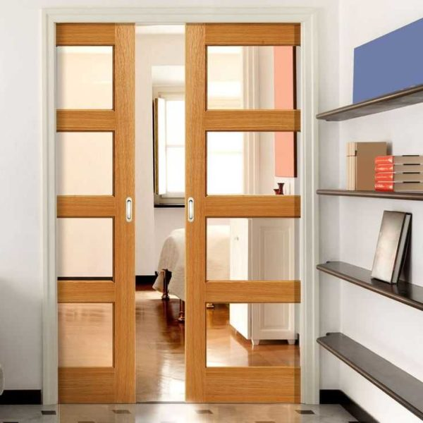 Этот тот вариант раздвижных дверей, когда полотно уезжает в стену