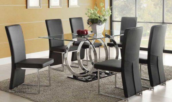 В стиле модерн хорошо будут смотреться многие стеклянные столы