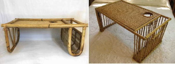 Бамбук для нашей страны экзотический материал, но столик для завтрака в постель можно найти и бамбуковый