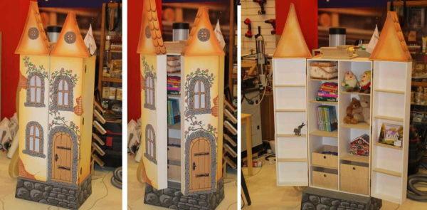 Для кукол можно сделать даже замок