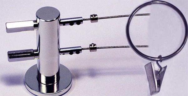 Двухрядный струнный карниз для настенного монтажа