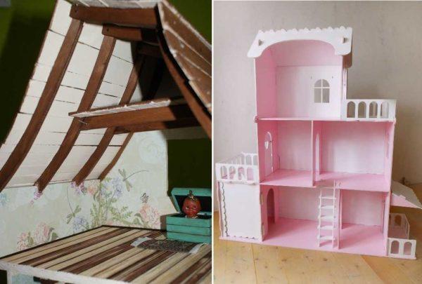 Крышу на кукольном домике можно сделать по-разному можно сделать по-разному