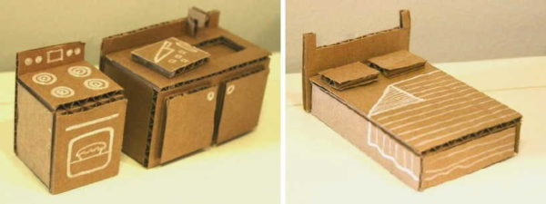 Как сделать мебель из картона