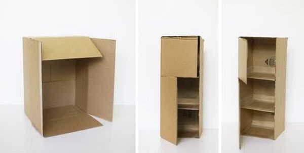 Как сделать шкаф для куклы из картонной коробки
