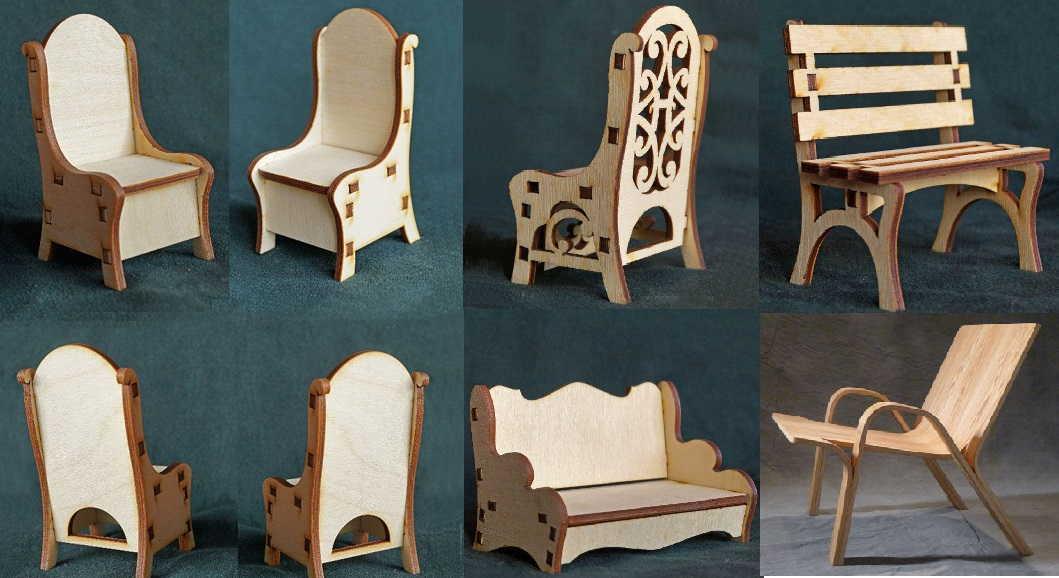 Столы и стулья для кукол своими руками 254