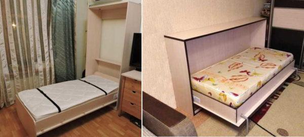 Разница между горизонтальными и вертикальными откидными кроватями