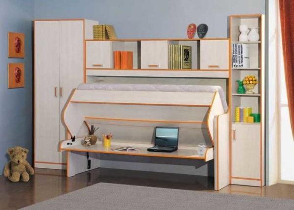 В комнате ученика может стоять откидная кровать-шкаф-стол