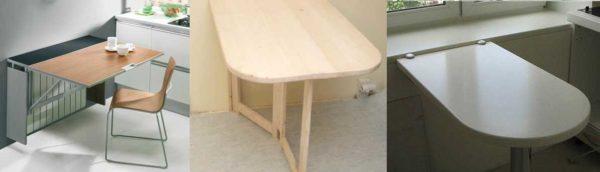 Складной стол для маленькой кухни - миниатюрные варианты