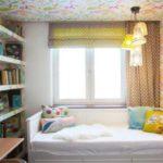 Римская штора в интерьере детской комнаты для девочки