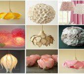 Самодельные абажуры поражают разнообразием форм и материалов