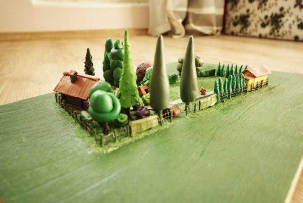 Пластилиновый проект дизайна двора - отличная 3 D визуализация