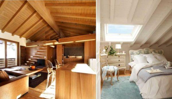 Гостиная, спальня, кабинет, детская — вот перечень помещений, которые делают на мансардном этаже