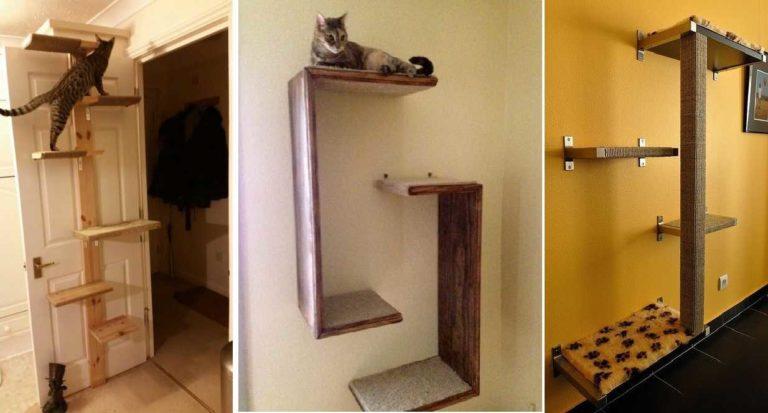Многоуровневый кошачий домик своими руками 54