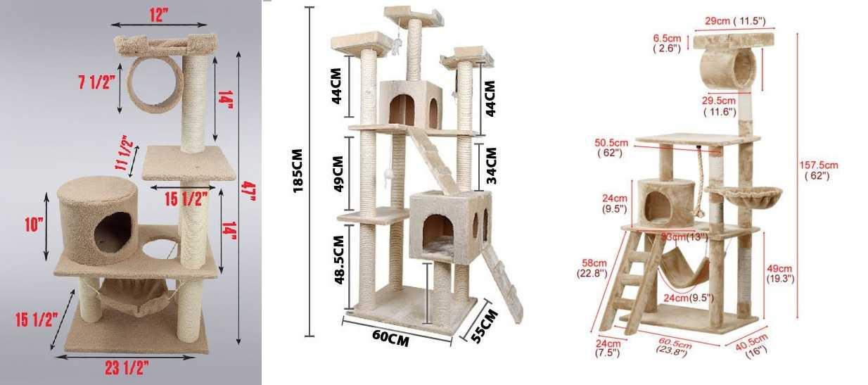Схемы домиков для кошки своими руками