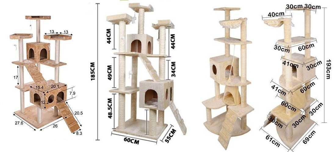 Игровой комплекс для кошки своими руками чертежи с размерами 52