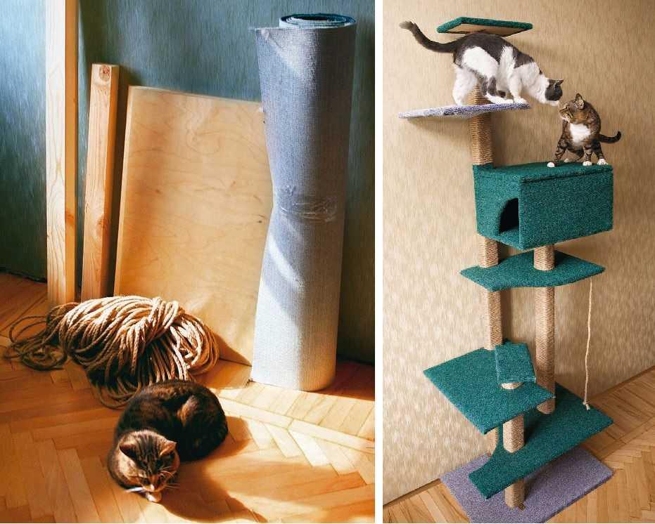 Фото домика для кошки своими руками фото 27