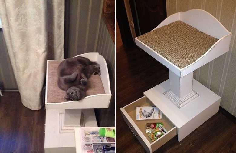 Домик для кошки своими руками фото чертежи 52