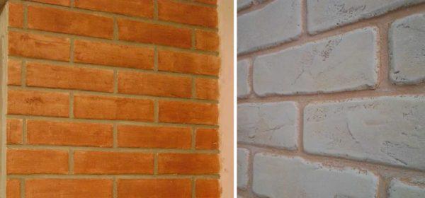Имитация кирпича для внутренней отделки помещений из раствора, штукатурки (обычной и декоративной)