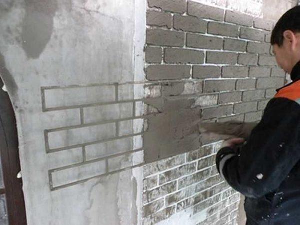 Рамка для имитации кирпичной стены